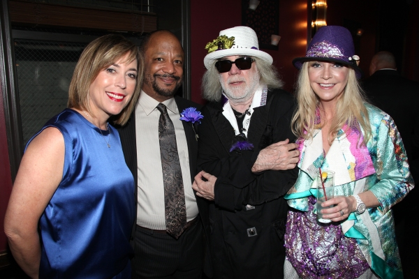 (L-R)  Patti Eisenberg, Sheldon Epps, 'Baby It's You!' Co-Bookwriter ans Co-Director Floyd Mutrux and Choreographer Birgitte Mutrux attending the Pasadena Playhouse Pre-Broadway Opening Night Reception for 'Baby It's You!' at Angus Restaurant in New York