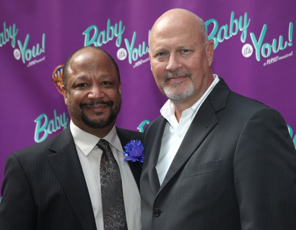 Sheldon Epps (Artistic Director of the Pasadena Playhouse and (co-Director of 'Baby it's You!' ) and Stephen Elich attending the Broadway Opening Night Performance of 'Baby It's You!' in New York City.