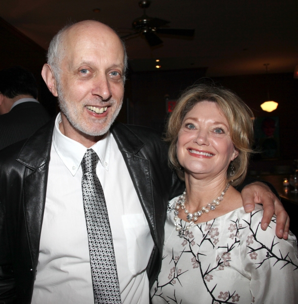 Co-Bookwriter Colin Escott & wife attending the Pasadena Playhouse Pre-Broadway Opening Night Reception for 'Baby It's You!' at Angus Restaurant in New York City.