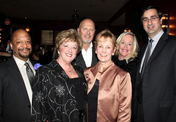 The Pasadena Playhouse Board Committee (L-R) Sheldon Epps, Board Chair Michele Dedeaux Engemann, Stephen Elich, Board Secretary Linda Boyd Griffey, Board Vice Chair Shelia Grether-Marion and Board Treasurer David DiChristofaro attending the Pasadena Playh