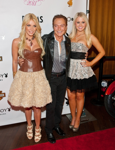 Crystal Harris, David Cassidy and Anna Sophia Berglund