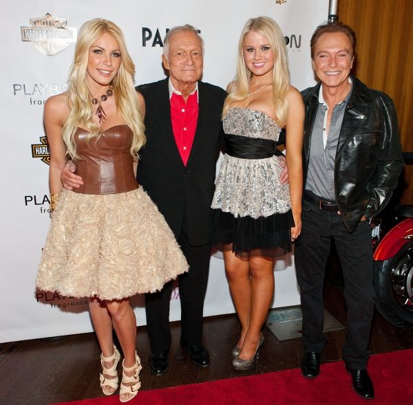 Crystal Harris, Hugh Hefner, Anna Sophia Berglund and David Cassidy