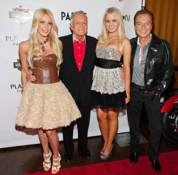 Crystal Harris, Hugh Hefner, Anna Sophia Berglund and David Cassidy