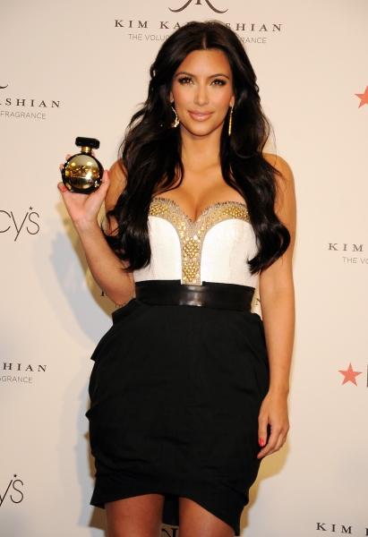Kim Kardashian at Kim Kardashian unveils her new fragrance