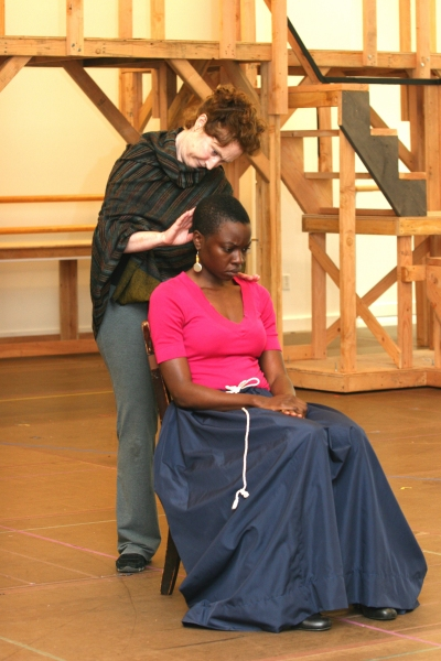 Caitlin O'Connell and Danai Gurira 