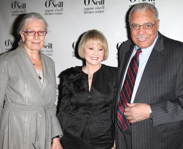 Vanessa Redgrave, Cecilia Hart & James Earl Jones attending The Eugene O'Neill Theater Center's 11th Annual Monte Cristo Award honoring James Earl Jones at Bridgewayers in New York City.