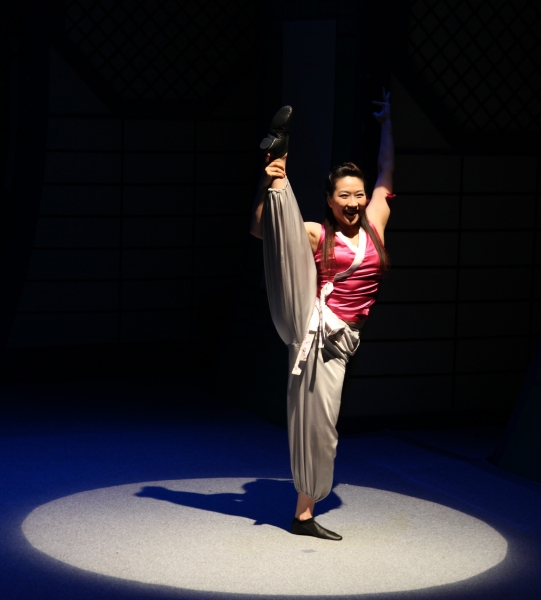 Ju-Hee Lee during the Press Preview of The Martial Arts Comedy Sensation 'JUMP' at the World Stages Theatre in New York City
