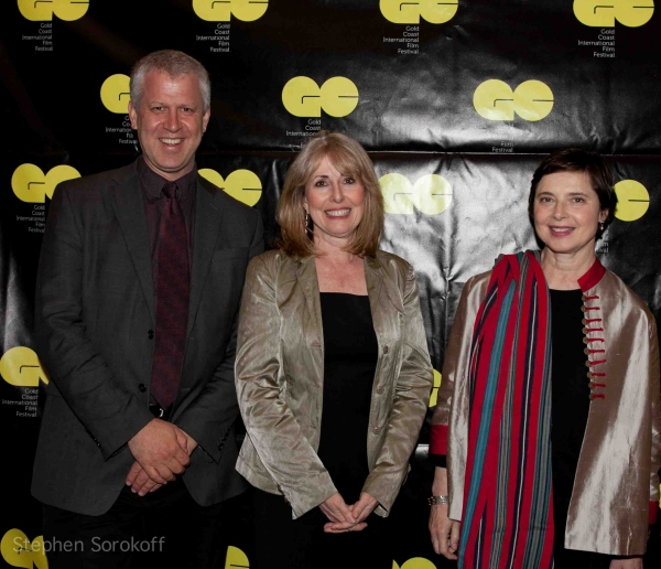 David Schwartz, Regina Gil, Isabella Rossellini Photo