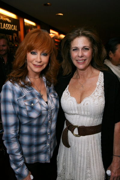 Cast members Reba McEntire (L) and Rita Wilson (R) at SCLA's MERRY WIVES OF WINDSOR Reading!