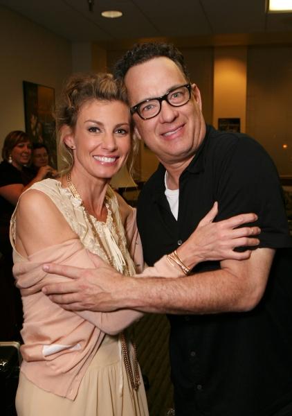 Faith Hill (L) and Tom Hanks Photo