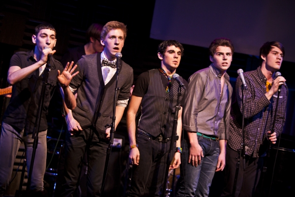 David Gomez, Charlie Franklin, Christopher Nolan, Beau Cybulski and Brandon Kalm  at Pace Students Perform Music of Ryan Scott Oliver in RATED RSO: COLLEGE EDITION