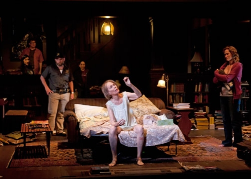 Lois Markle (center) with the cast of Tracy Letts' Pulitzer Prize-winning play August: Osage County