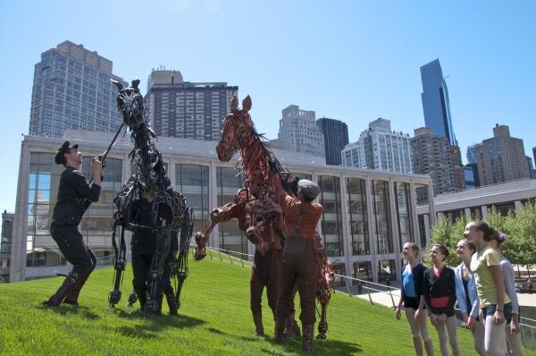 Photo Flash: WAR HORSE Puppets Visit Illumination Lawn