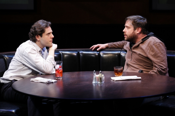 Alexander Chaplin and Zak Orth in Knickerbocker, written by Jonathan Marc Sherman and directed by Pippin Parker, a Public LAB production running through May 29 at The Public Theater. Photo credit: Carol Rosegg