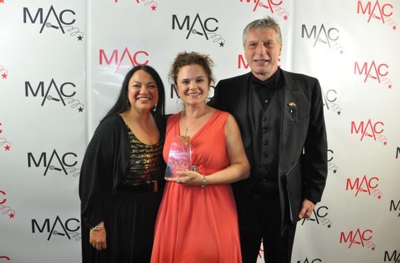 Julie Miller (Producer to tonight's show), Julie Reyburn and Mark Janas Photo