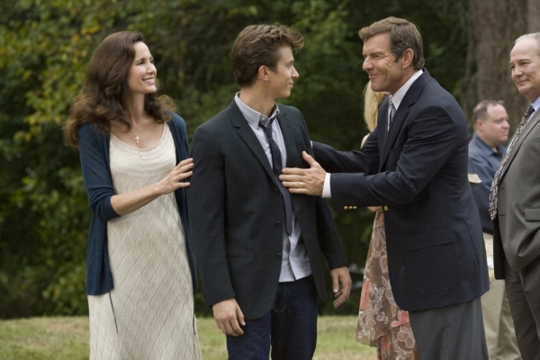 Andie MacDowell, Kenny Wormald, and Dennis Quaid at First Look at the New FOOTLOOSE Film!