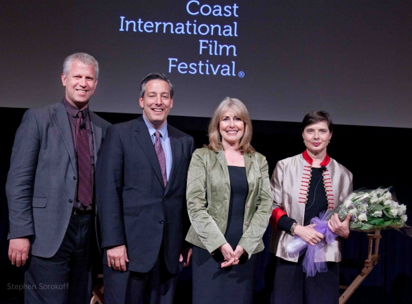 Ian Siegel, Government & Business Director of the GCIFF, Regina Gil, Isabella Rossellini, and Sean McPhillips, Senior Programmer and Festival Director of the GCIFF