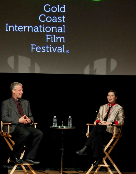 David Schwartz and Isabella Rossellini