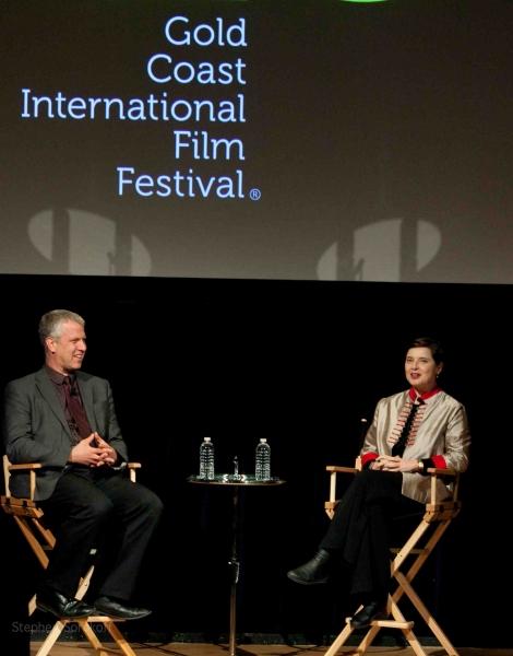 David Schwartz and Isabella Rossellini