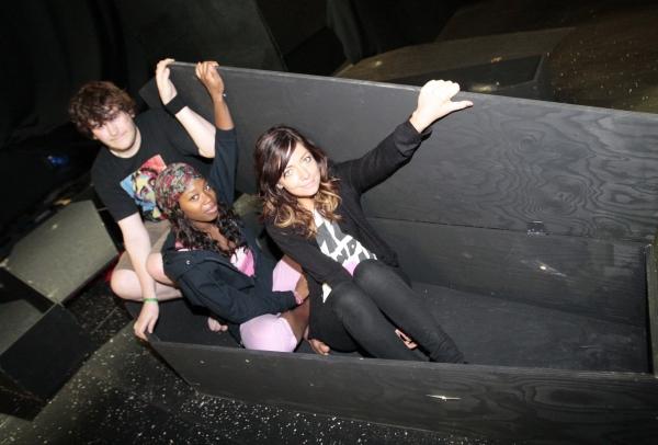 The brave trio - Jessica Wright, Krystal Dockery and David Harvey