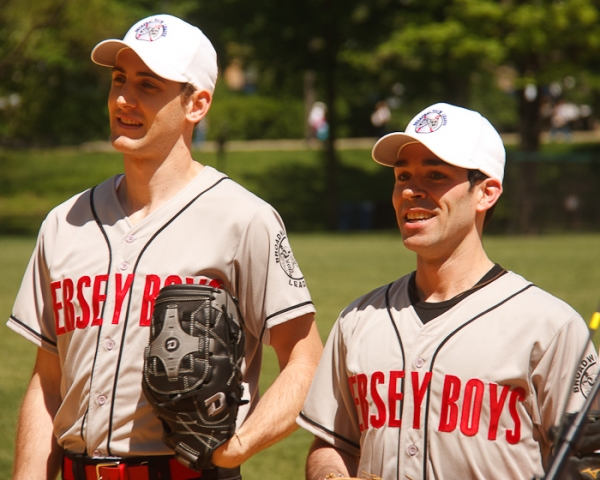 Ryan Jesse and Dominic Scaglione at Tveit, CATCH ME, Falco & More Kick Off Broadway Show Softball League