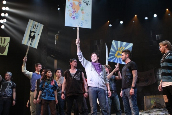 Aaron Finley (Jesus) and Company at Brian Yorkey's JESUS CHRIST SUPERSTAR at Village Theatre!