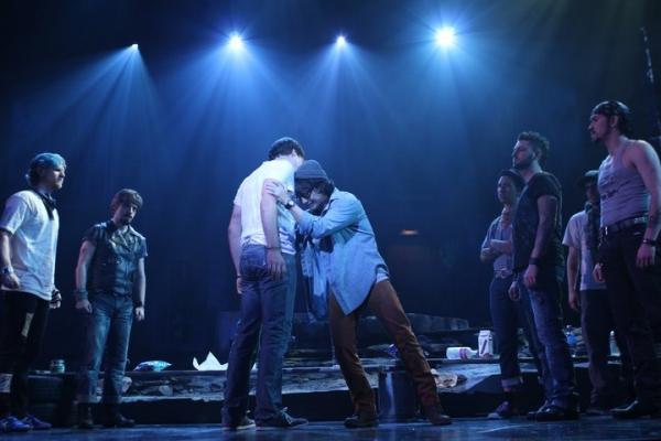 Aaron Finley (Jesus), Michael K. Lee (Judas) at Brian Yorkey's JESUS CHRIST SUPERSTAR at Village Theatre!