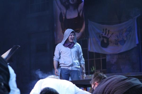 Aaron Finley (Jesus) at Brian Yorkey's JESUS CHRIST SUPERSTAR at Village Theatre!