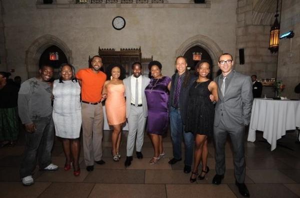 Charles Mack, Dietrice Bolden, cast member Rumando Kelly, Kelechi Ezie, Daniel Beaty, Photo