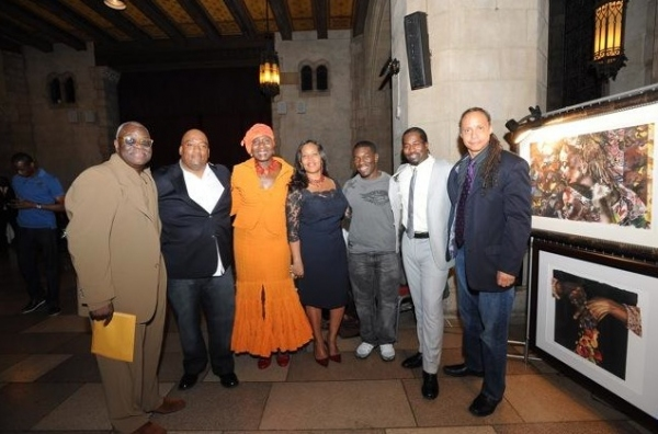Producer Voza Rivers, Bryan Collier, Producer Marcia Pendelton, Jewel Kinch-Thomas, Charles Mack, Daniel Beaty, and Jamal Joseph at Daniel Beaty's TEARING DOWN THE WALLS - Opening Night!