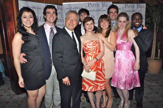 Alan Menken and Nora Menken with students from the Theatre School at Paper Mill-Ben Rosenbach, Krista Pioppi, Charlo Kirk, Kaela O'Connor, Aaron Riesebeck, Jordan Barrow and Melody Madarasz
