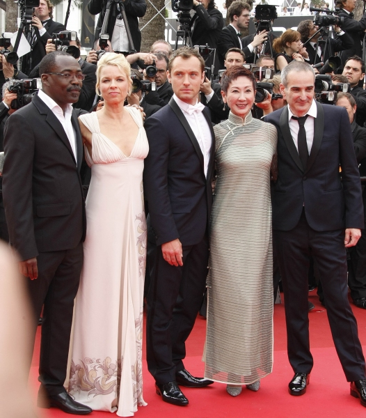 May 15, 2011 - Cannes, France -  CANNES, FRANCE - MAY 14:   (L-R) Jury members Mahamat-Saleh Haroun, Linn Ullmann, Jude Law, Nansun Shi and Olivier Assayas attend the ''Pirates of the Caribbean: On Stranger Tides'' premiere at the Palais des Festivals dur