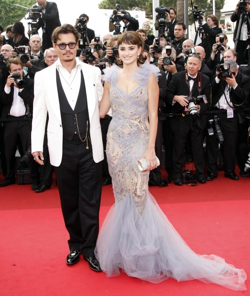 May 15, 2011 - Cannes, France -  CANNES, FRANCE - MAY 14:   Actors Johnny Depp and Penelope Cruz attend the ''Pirates of the Caribbean: On Stranger Tides'' Premiere during the 64th Annual Cannes Film Festival at Palais des Festivals on May 14, 2011 in Can at 'Pirates of the Caribbean: On Stranger Tides' Premieres at Cannes