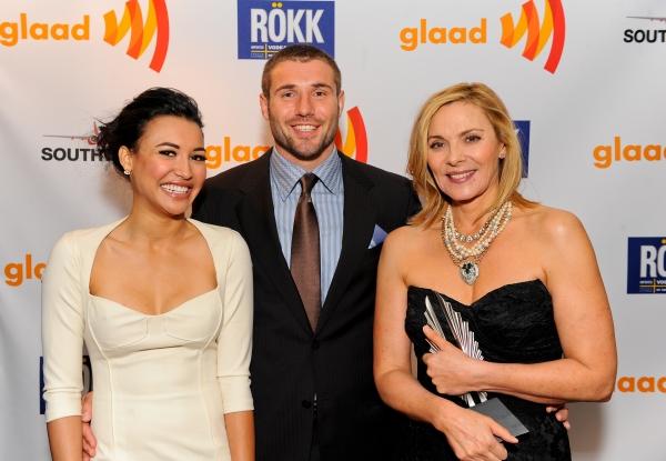 Naya Rivera, Ben Cohen and Kim Cattrall