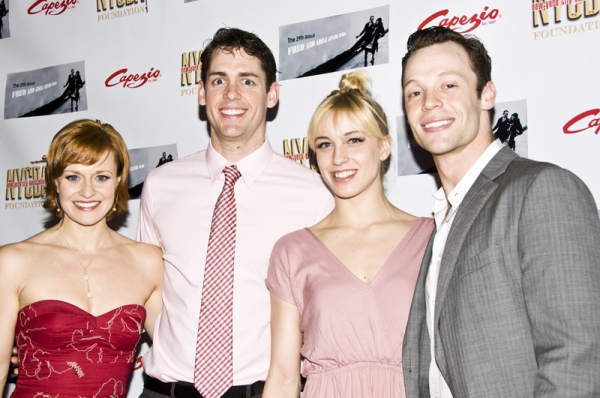 Megan Sikora, Barrett Martin, Samantha Zack & Ryan Watkinson at Radcliffe, Foster & More at the 2011 Fred & Adele Astaire Awards