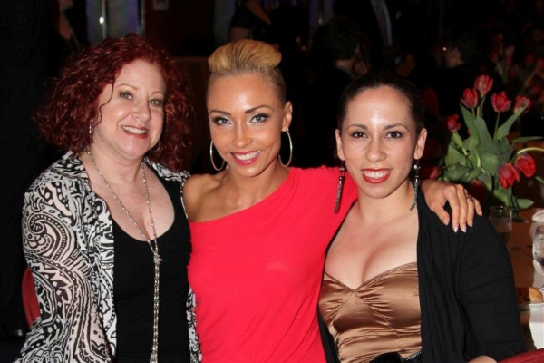 Melanie LaPatin, Iveta Lukosiute, Esther Frances at Stroman, Osnes, et al. at Astaire Awards After Party