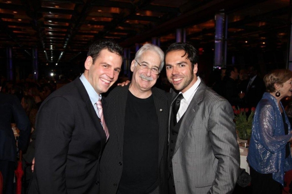 Kasey Marino, Richard Winkler, Nick Dalton at Stroman, Osnes, et al. at Astaire Awards After Party
