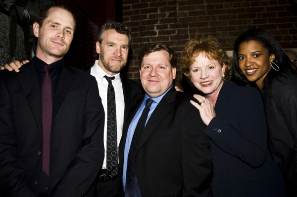 Patrick Carroll, Tate Donovan, David Lindsay-Abaire, Becky Ann Baker & Renee Elise Goldsberry at  2011 Drama Critics Circle Awards