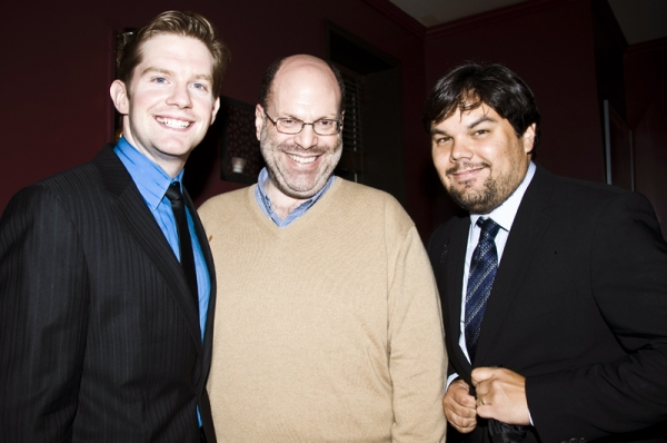 Rory O'Malley, Scott Rudin & Robert Lopez