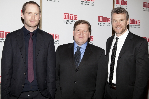 Patrick Carroll, David Lindsay-Abaire and Tate Donovan at Celebs Celebrate 2011 MTC Spring Gala