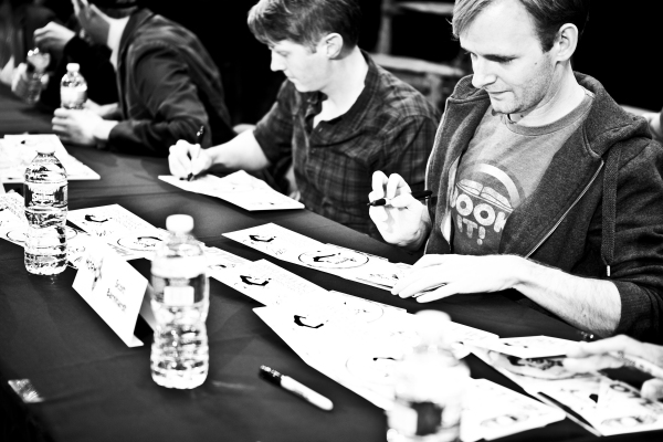 Justin Bohon and Scott Barnhardt signing