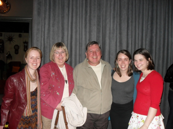 Marisa Wegrzyn with her parents Cathy and Bob and Asst. Director Emmi Hilger and Cathlyn Melvin