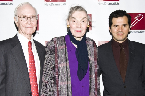 Roger Berlind, Marian Seldes & John Leguizamo at New Dramatists Honor Roger Berlind at Starry Luncheon