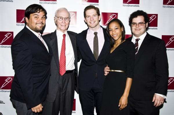 Robert Lopez, Roger Berlind, Rory O'Malley, Nikki M. James & Josh Gad Photo