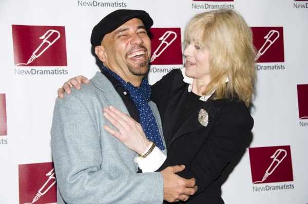 Nilo Cruz & Judith Light at New Dramatists Honor Roger Berlind at Starry Luncheon