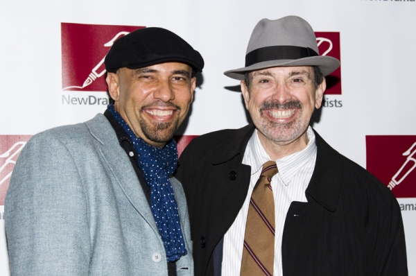 Nilo Cruz & Craig Lucas at New Dramatists Honor Roger Berlind at Starry Luncheon