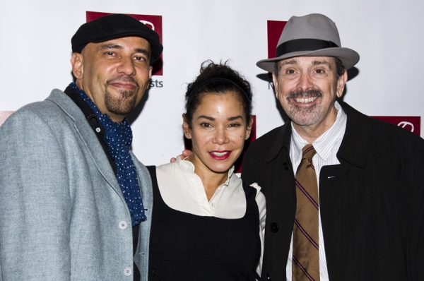 Nilo Cruz, Daphne Rubin-Vega & Craig Lucas at New Dramatists Honor Roger Berlind at Starry Luncheon