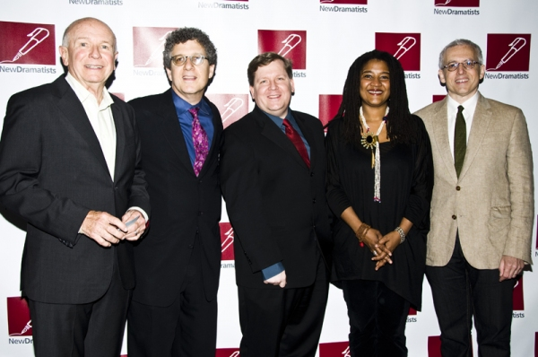 Terrence McNally, New Dramatists artistic director Todd London, David Lindsay Abaire, Photo
