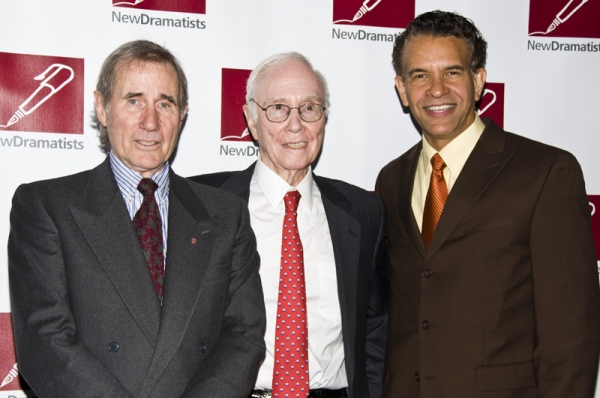 Jim Dale, Roger Berlind & Brian Stokes Mitchell at New Dramatists Honor Roger Berlind at Starry Luncheon