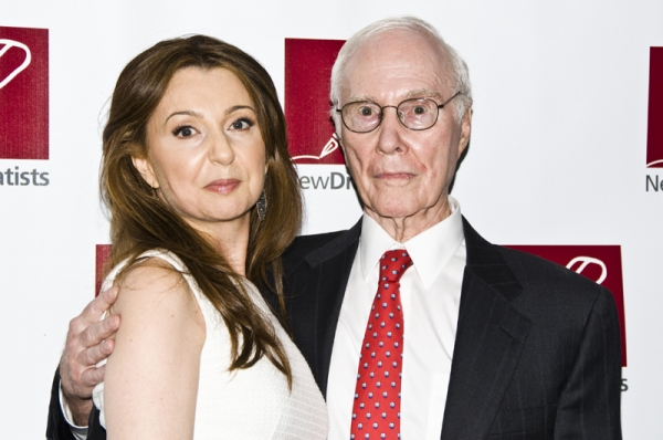 Donna Murphy & Roger Berlind at New Dramatists Honor Roger Berlind at Starry Luncheon